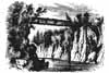 Ink drawing of High Bridge from Benson Lossing's The Hudson. Donated by Dr. Marvin and Lucille Freiser